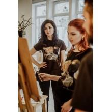 Тениски Arte Class & Yotov , тъмно кафява, дамскa